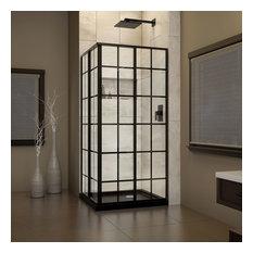 corner shower kits 36 x 36. DreamLine  French Corner 36 x Shower Enclosure and Black Base Kit 36X36 Stalls And Kits Houzz