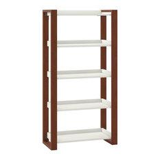 kathy ireland Home by Bush Furniture Voss 5 Shelf Etagere Bookcase