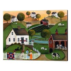 """""""Flower Lady Dairy Farm"""" Canvas Wall Art by Cheryl Bartley, 16""""x13"""""""