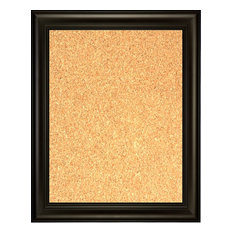 """Framed Cork Board 24""""x36"""", With Espresso Finish Frame With Triple Step Lip"""