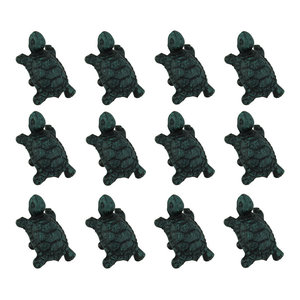 Bronze Finish Cast Iron Small Deer Antler Cabinet Handle Drawer Pull Set of 12