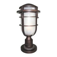 1-Light Pedestal Light, Victorian Bronze
