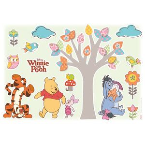 Winnie The Pooh Nature Lovers Wall Stickers Pack of 14