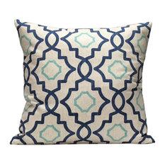 Tiles Pillow, Indigo
