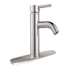Bathroom Faucet Chrome Single Hole Widespread Plate Cover