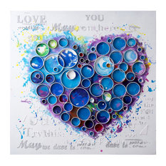 Work Of Heart Wall Accent in Blue