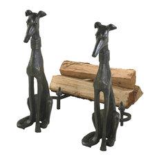 "Canyon Bronze 24"" Dog Andirons"