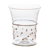 Gatsby Glasses Tumblers With Gold Dots, Set of 4