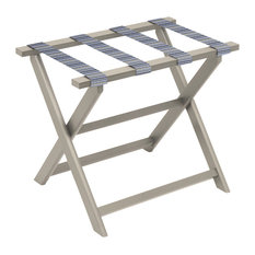 ECO Luggage Rack With 4 Pool Stripe Straps, Taupe
