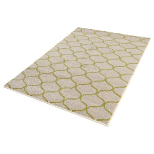 Casa Moroccan Window Area Rug, Lime, 200x290 cm