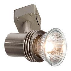 Modern track lighting robus petite spotlight brushed chrome track light heads mozeypictures Choice Image