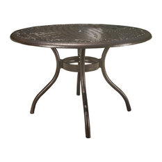 Kiawah Hammered Bronze Cast Aluminum Outdoor Patio Round Table