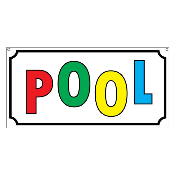 Pool, Aluminum Novelty House Hotel Prop Sign, 6