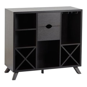 Bowery Hill Wine Rack Buffet in Weathered Wood