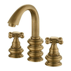 Bathroom Faucet Finishes antique brass bathroom sink faucets | houzz