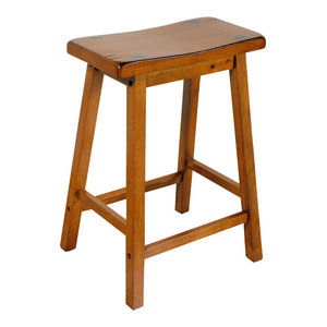 ACME Furniture Gaucho Counter Height Stool Set of 2 Antique Yellow