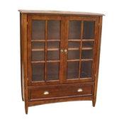 Bookcase With Glass Door, Birchwood