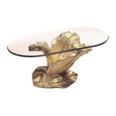 ZACHE DISEÑO & ANZADI FURNITURE - Zadise Azucena Coffee Table, White Gold - Coffee Tables