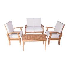 Venice 4-Piece Deep Seating Teak Conversation Set