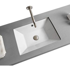 White Ceramic Undermount Sink, Bathroom Sinks Undermount Small
