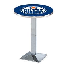 Edmonton Oilers Pub Table 36-inchx42-inch
