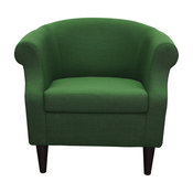 Nikole Club Chair, Emerald Green