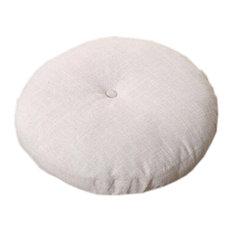 Yoga Round Seat Cushion, Creamy-white