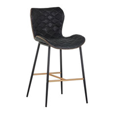 Kalle Counter Stool - Champagne Gold - Antique Black