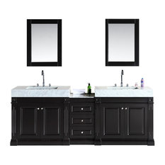 "Odyssey 88"" Double Sink Vanity Set, Trough Style Sinks"