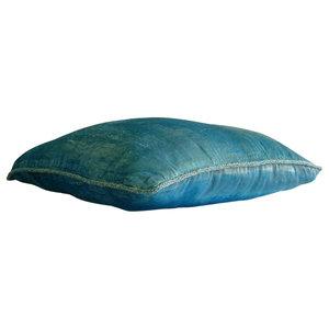 Luxury Aqua Blue Velvet Cushion Cover, 50x50 Velvet Cushion Cover, Aqua Shimmer
