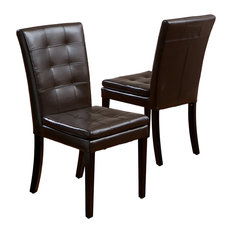 GDFStudio - Amalee Leather Dining Chair, Set of 2 - Dining Chairs