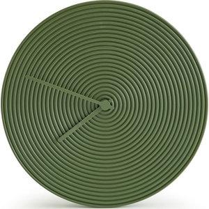 Atipico Ring Ceramic Wall Clock, Olive Green