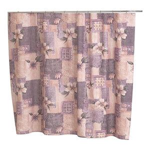 "Carnation Home /""Christina/"" Fabric Shower Curtain"