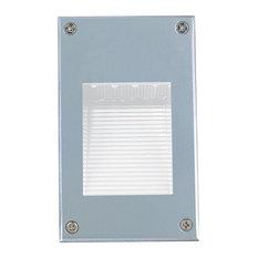 """Jesco Lighting HG-ST08M-12V-G 3.88"""" 0.72W 12 LED Medium Recessed Wall Step Light"""