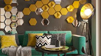 Дизайн квартиры Colored city