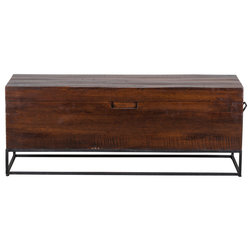 Industrial Accent And Storage Benches by Kosas