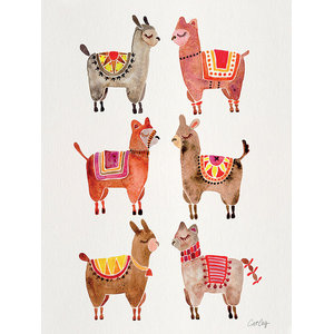 """Alpacas"" Printed Canvas by Cat Coquillette, 40x30 cm, 80x60 Cm"
