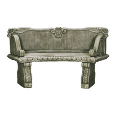 Palladio Curved Outdoor Cast Stone Garden Bench, English (ENG)