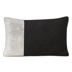 "Cushion Laser Cowhide, Midnight 12""x20"", Black"