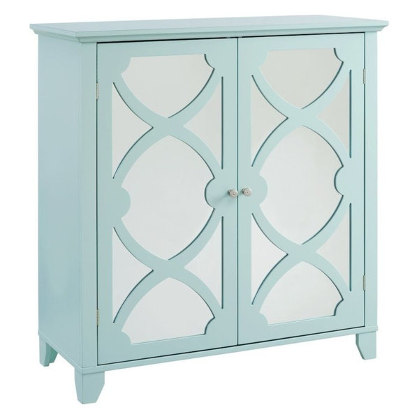 Winter Cabinet With Mirror Door, Seafoam, Large
