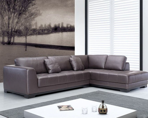 Contemporary Quality Leather L-shape Sectional - Sectional Sofas - Corner Sectional Sofas, Genuine Italian Quality Leather L-Shape