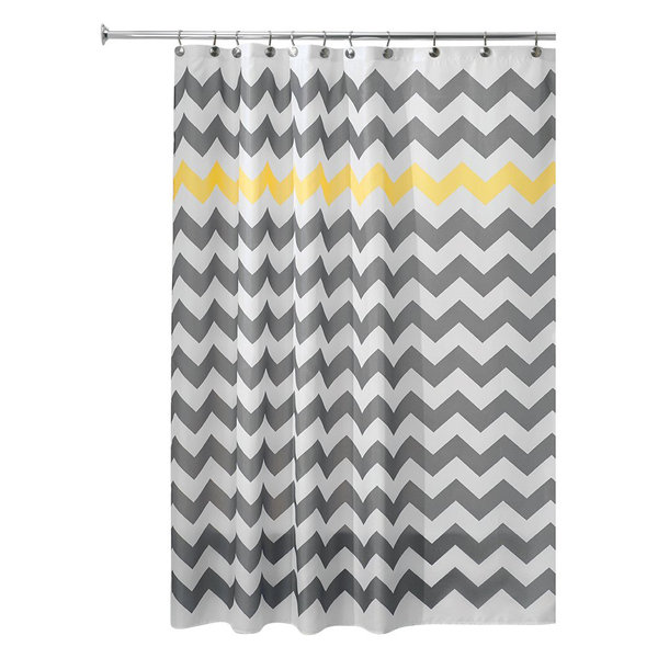 InterDesign Set of 2: Shower Curtain & Mildew-Free Shower Curtain Liner 72