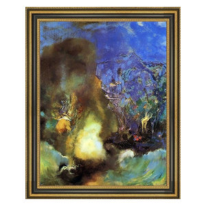 Odilon Redon Roger et Angelica Giclee Canvas Print Paintings Poster Reproduction