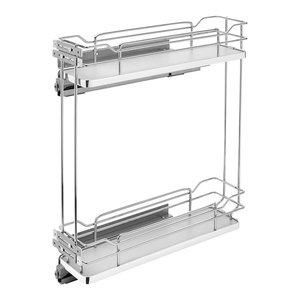Rev-A-Shelf 5322-BCSC-5-GR 5322 Series 2-Tier Pull Out Base Organizer, Gray
