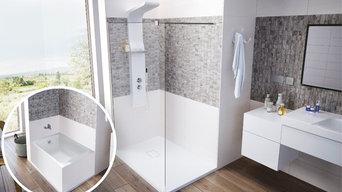 Remplacement de baignoire par une douche à l'italienne