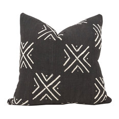 "Bobo African Mud Cloth Pillow, 20""x20"", Zipper, Cover Only"