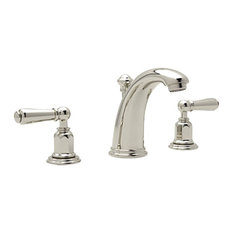 Perrin and Rowe Widespread Bathroom Faucet in Polished Nickel
