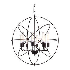 Elegant Lighting Vienna 8-Light Pendant, Dark Bronze