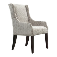 Edith Textured Fabric Upholstered Wingback Dining Chair, Grey