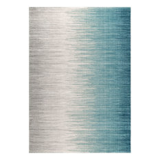nuLOOM Lexie Solid & Striped Area Rug, Blue, 9'x12'